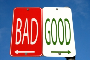 Good-Bad Street Sign