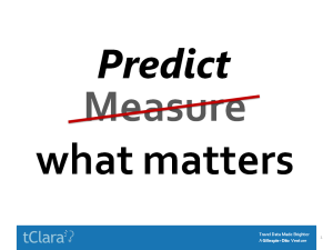Predict What Matters