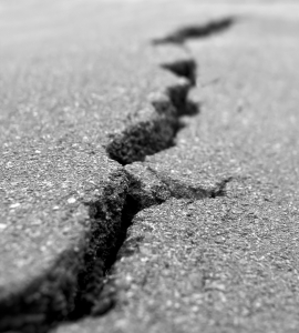 Broken pavement gray