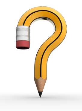 Pencil as a question mark